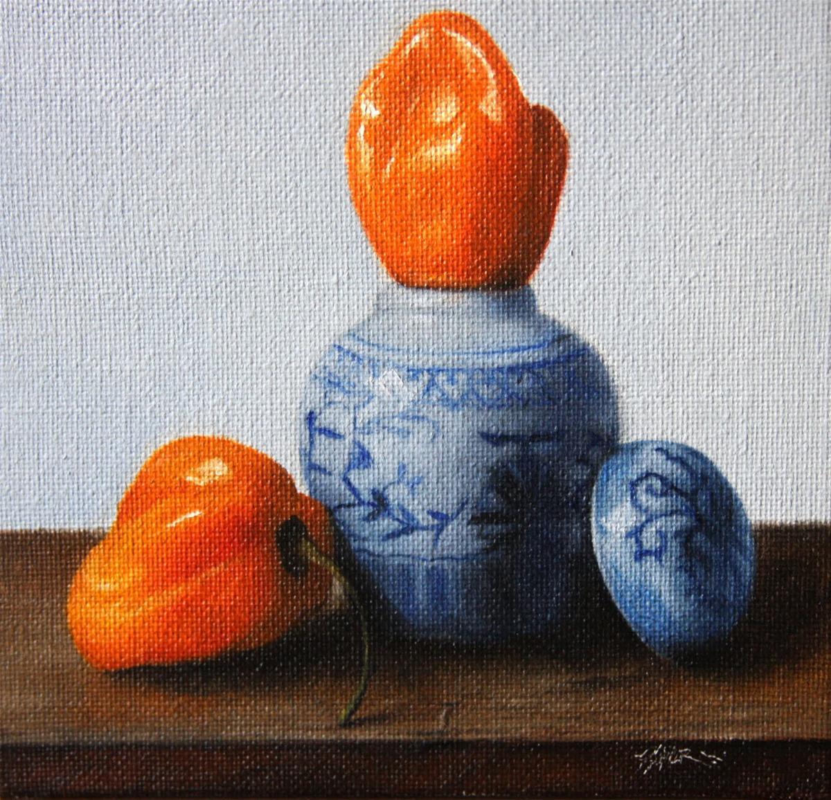 """""""Vase & Peppers"""" original fine art by Jonathan Aller"""
