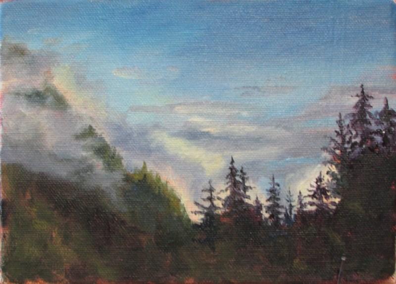 """""""Mountain Mist"""" original fine art by Christine Lewis"""
