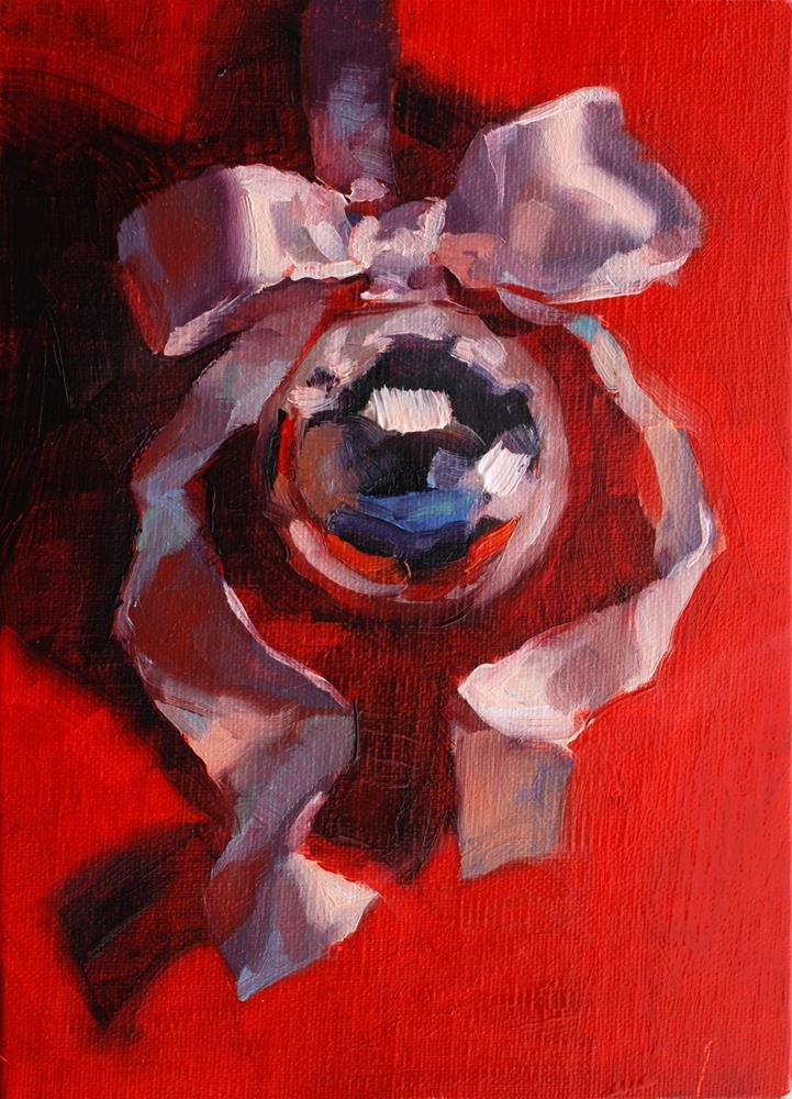 """""""No. 687 Ornament on a Ribbon #1"""" original fine art by Susan McManamen"""