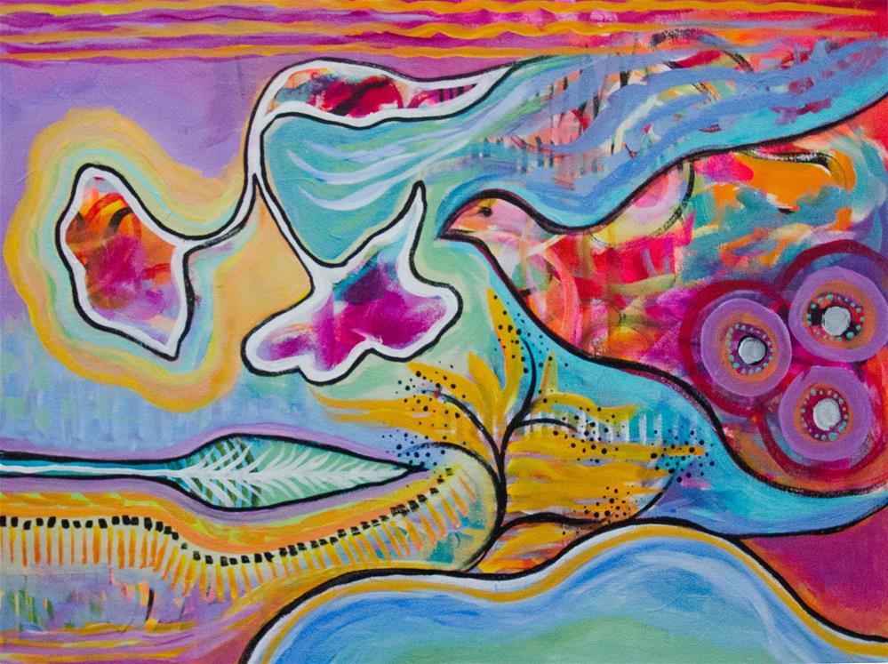 """Kaleidoscope Bird"" original fine art by Susan Bertocci"