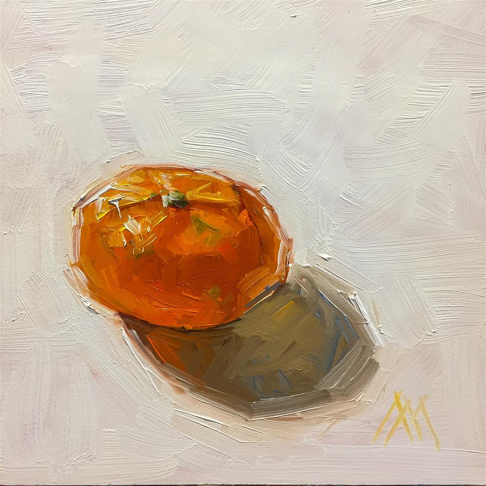 """Single Mandarin"" original fine art by Austin Maloney"