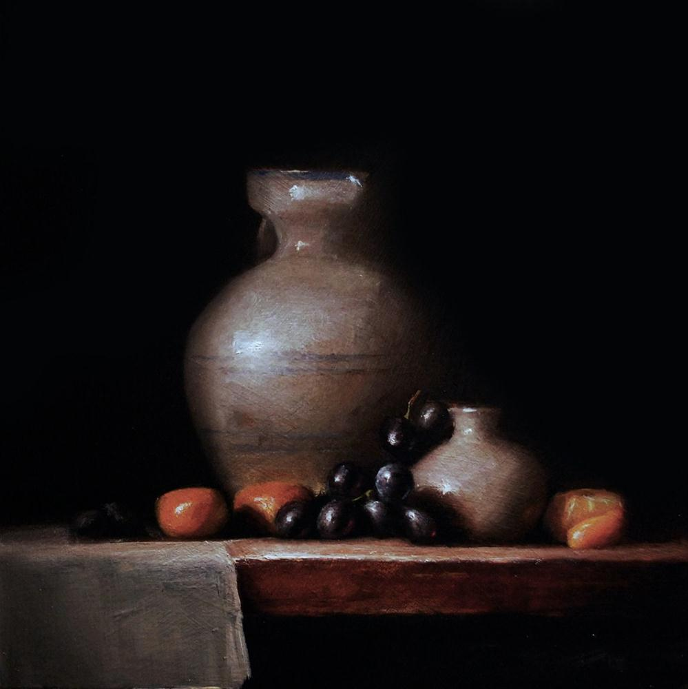 """Jug with Onion Vase"" original fine art by Neil Carroll"