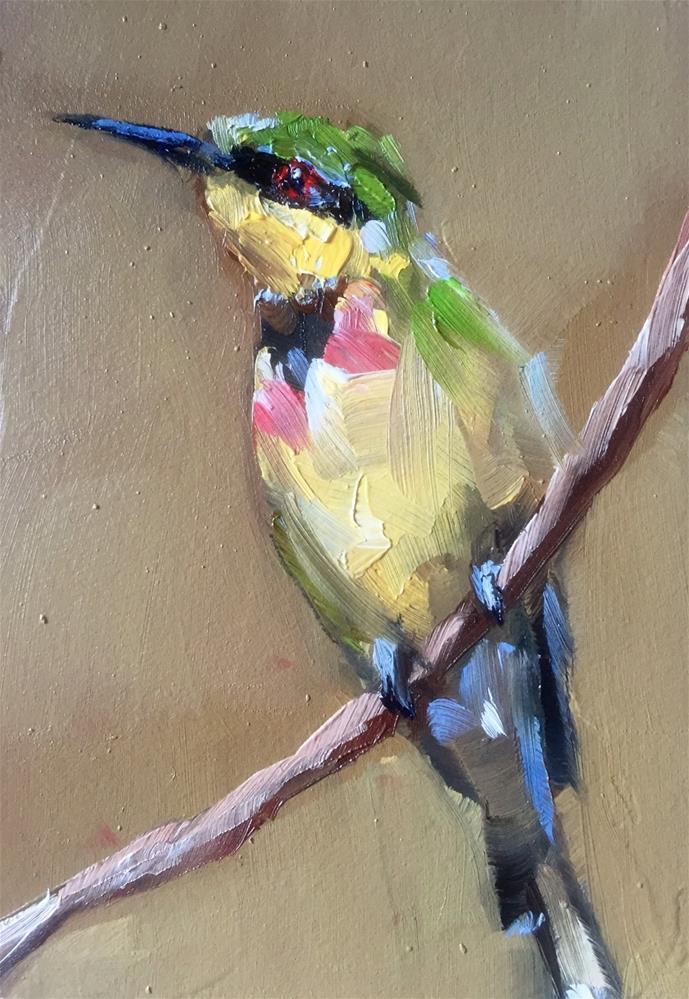"""""""Bee-eater"""" original fine art by Gary Bruton"""