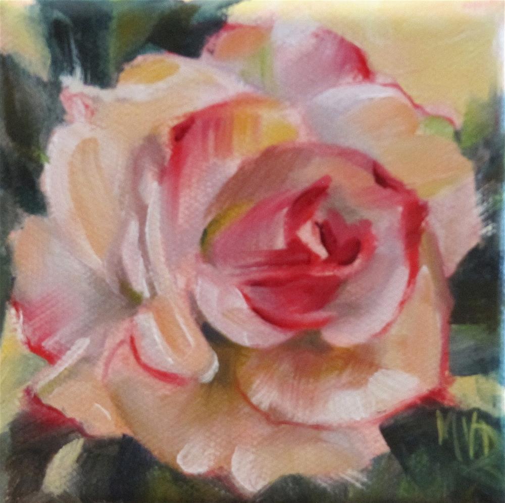 """Blush Rose"" original fine art by Mary Van Deman"