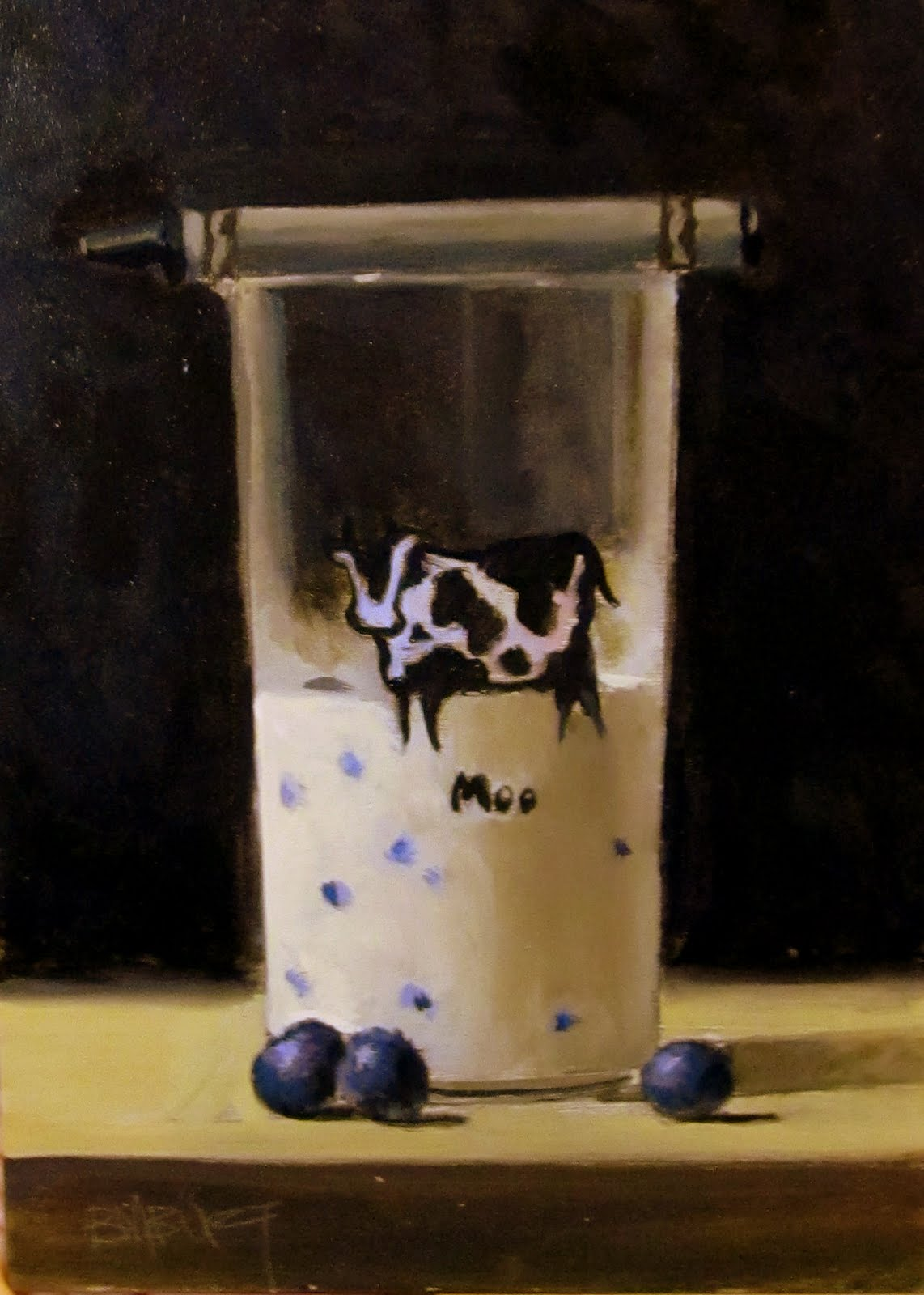 """ART 4 DIAPERS (DAILY DIAPER #173) Blueberries and Creme"" original fine art by Brian Burt"