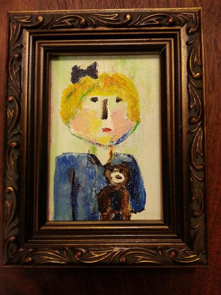 """Mini Marcie's Little Sister"" original fine art by Jo Allebach"