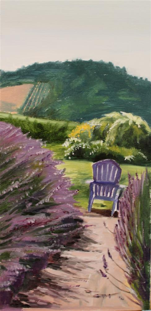 """Lavender Lane"" original fine art by Tamsen Armstrong"