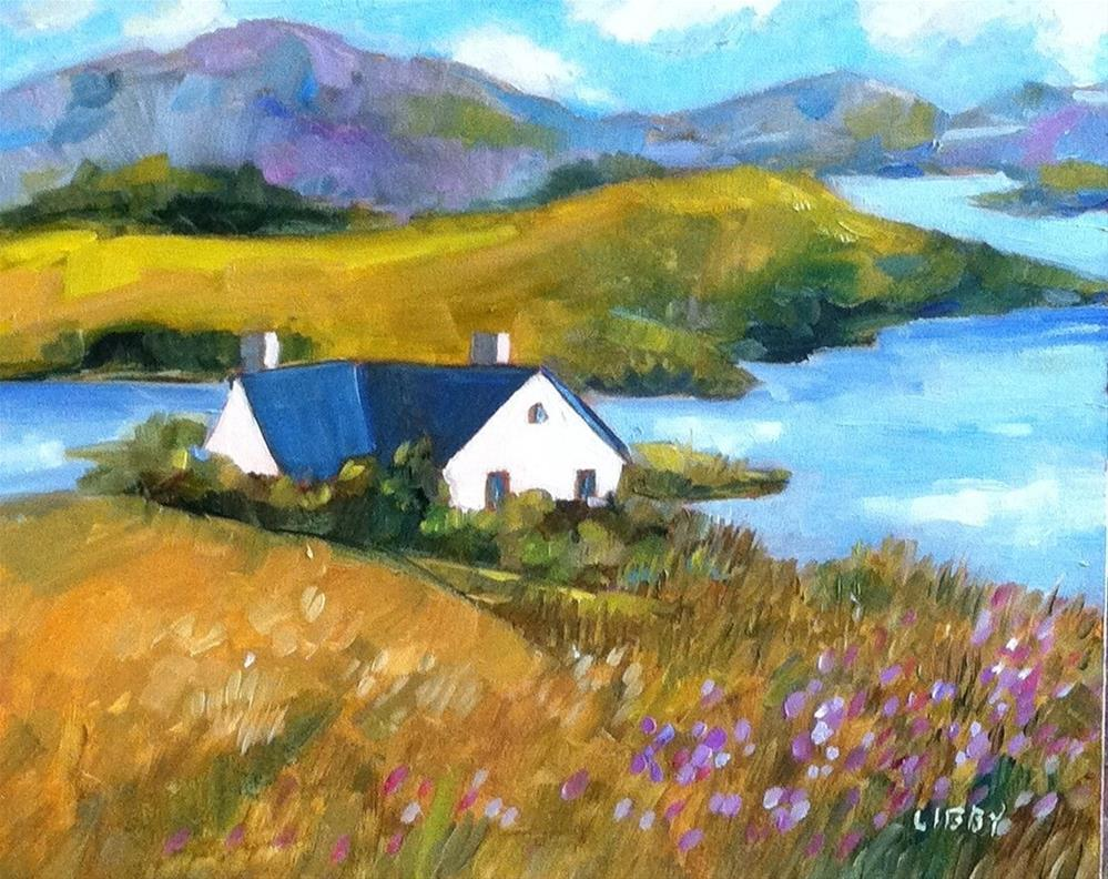 """Alone on the Island"" original fine art by Libby Anderson"