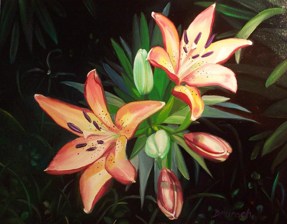 """Tootie Fruitie Lilies"" original fine art by Donna Munsch"