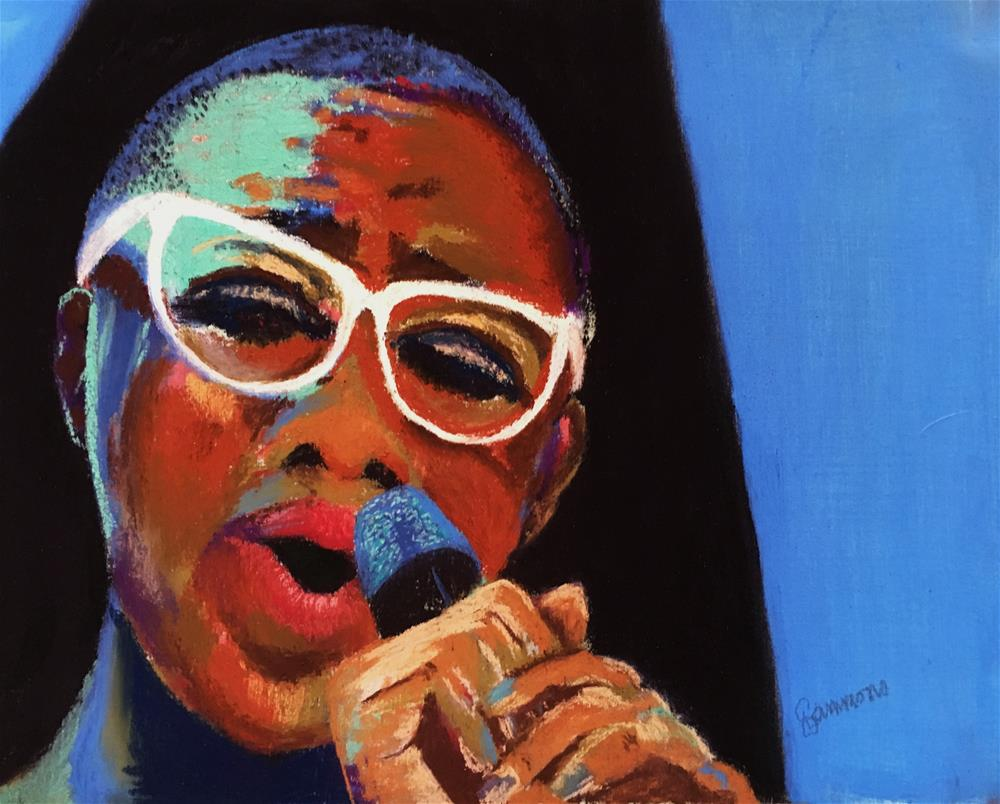 """Cecile McLorin Salvant, Jazz Singer"" original fine art by Laurie Sammons"