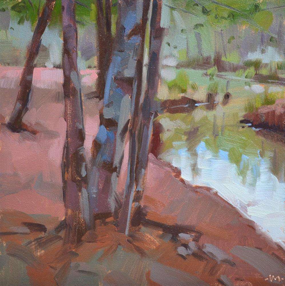 """Pink Sand Creek"" original fine art by Carol Marine"