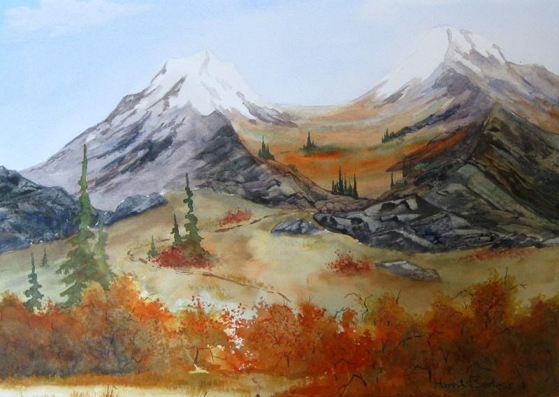 """The Trail"" original fine art by Horst Berlow"