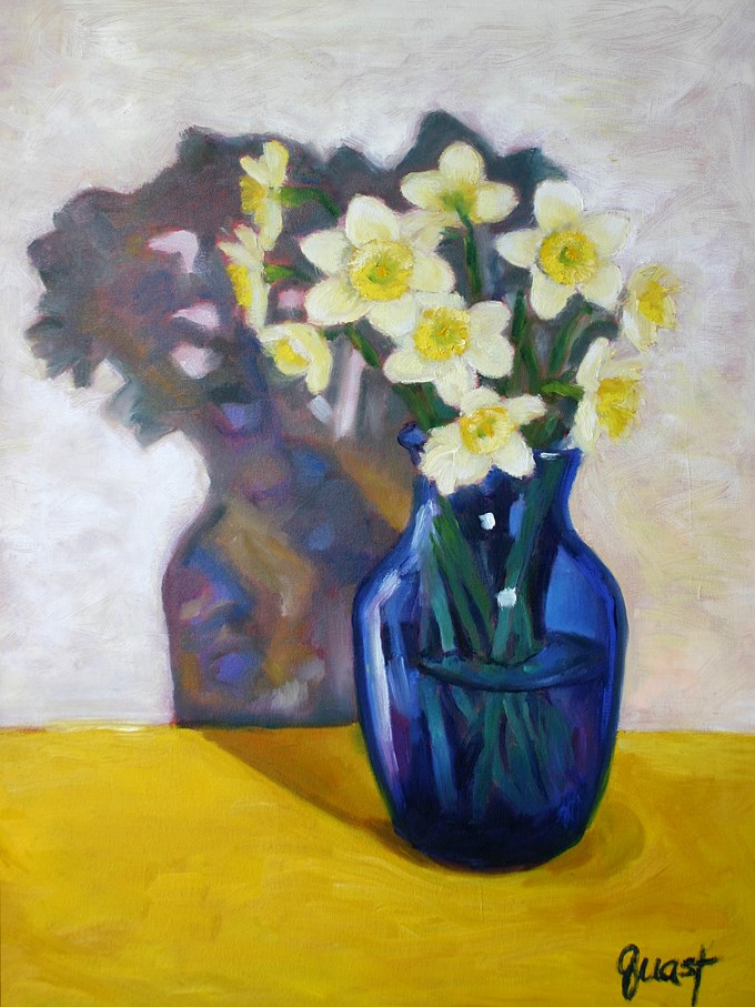 """""""Blue Vase"""" original fine art by barbara quast"""