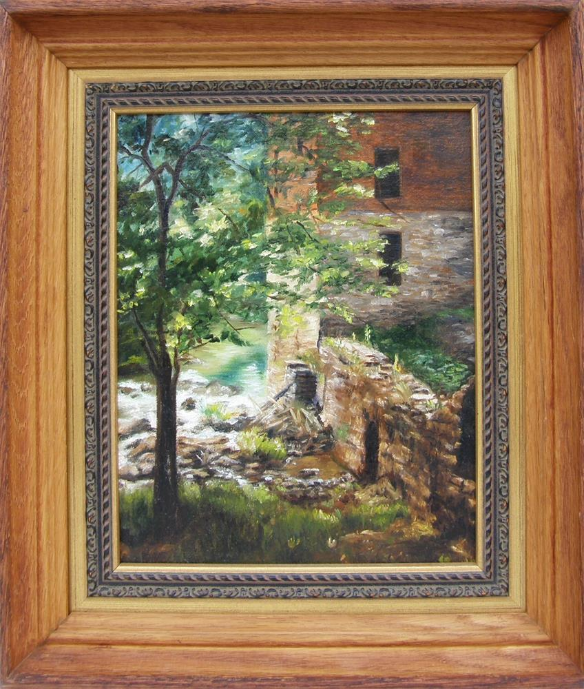 """Old Mill Stream I"" original fine art by Lori Brackett"