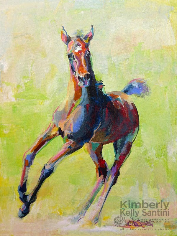 """Frolic"" original fine art by Kimberly Santini"