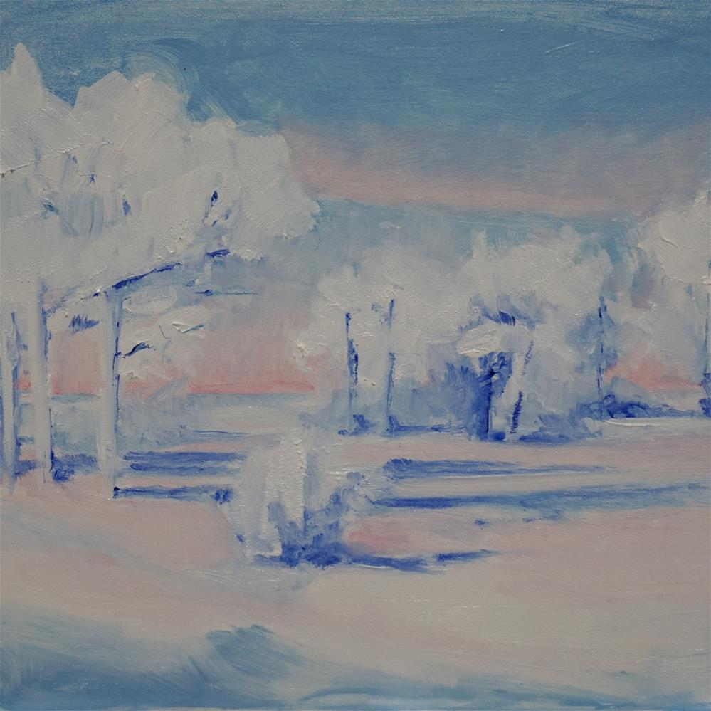 """Colors of Winter"" original fine art by Catherine Van Berg"