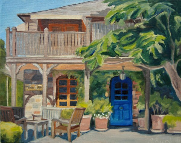 """""""The French Laundry Courtyard"""" original fine art by Jeanette Baird"""