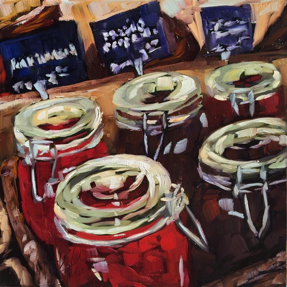 """Peppercorns"" original fine art by Hallie Kohn"