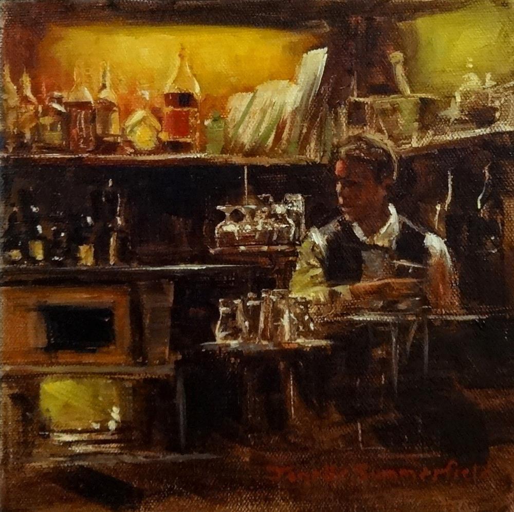 """""""Cafe Hawelka"""" original fine art by Jonelle Summerfield"""