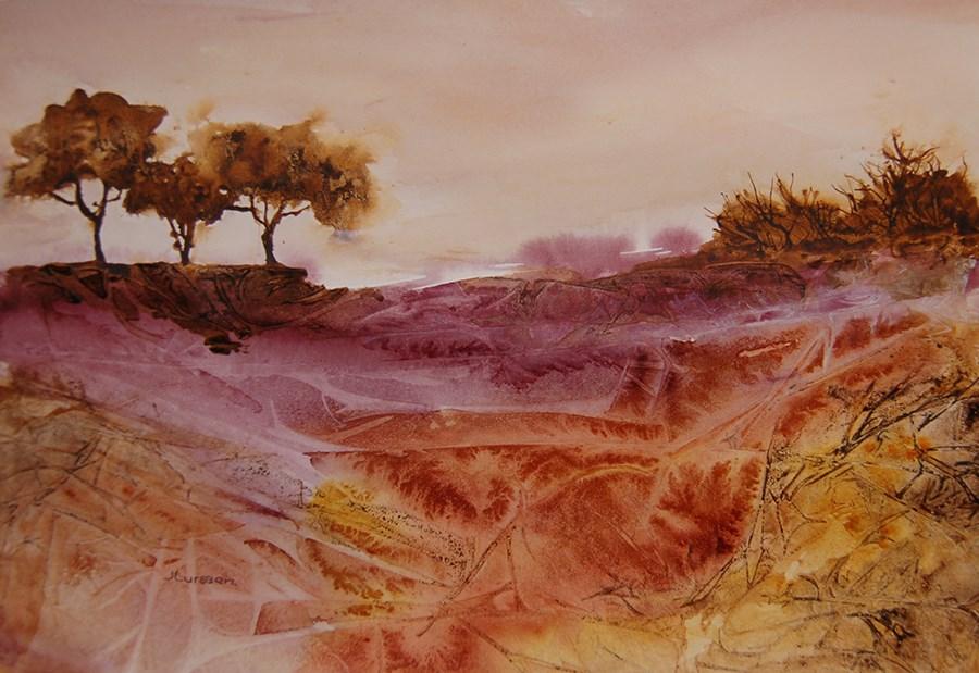 """Landscape Patterns"" original fine art by Jean Lurssen"