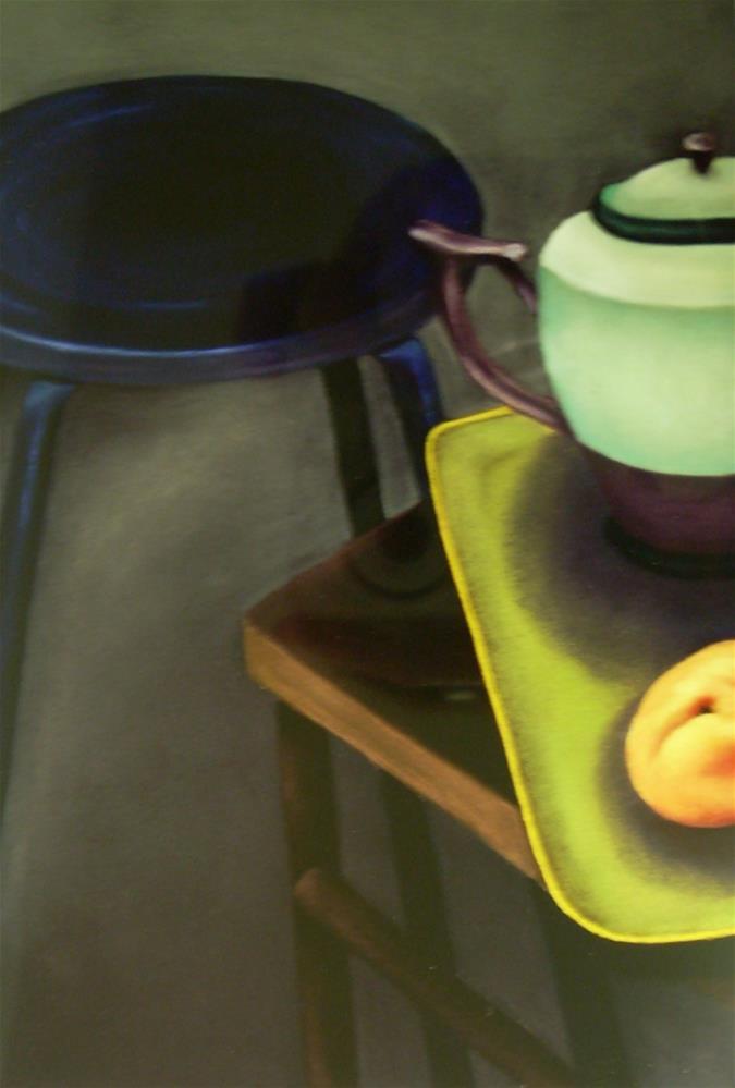 """""""Teapot on a Tray"""" original fine art by Karen Collins"""