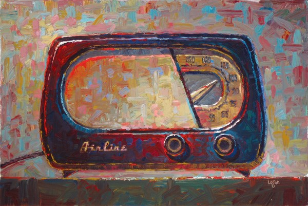 """Airline Radio"" original fine art by Raymond Logan"