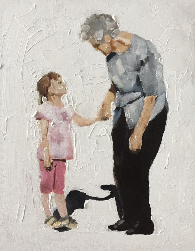 """A Walk with Gran"" original fine art by James Coates"