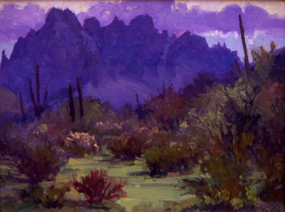 """PURPLE DESERT"" original fine art by James Coulter"