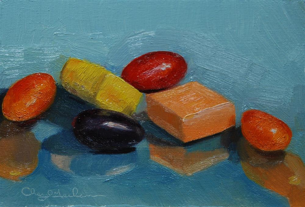 """Starbursts and Jellybeans"" original fine art by Cheryl Meehan"
