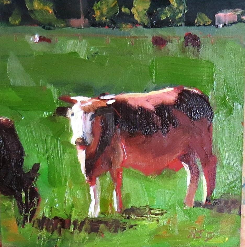 """Loose Cow"" original fine art by Nancy Darling"
