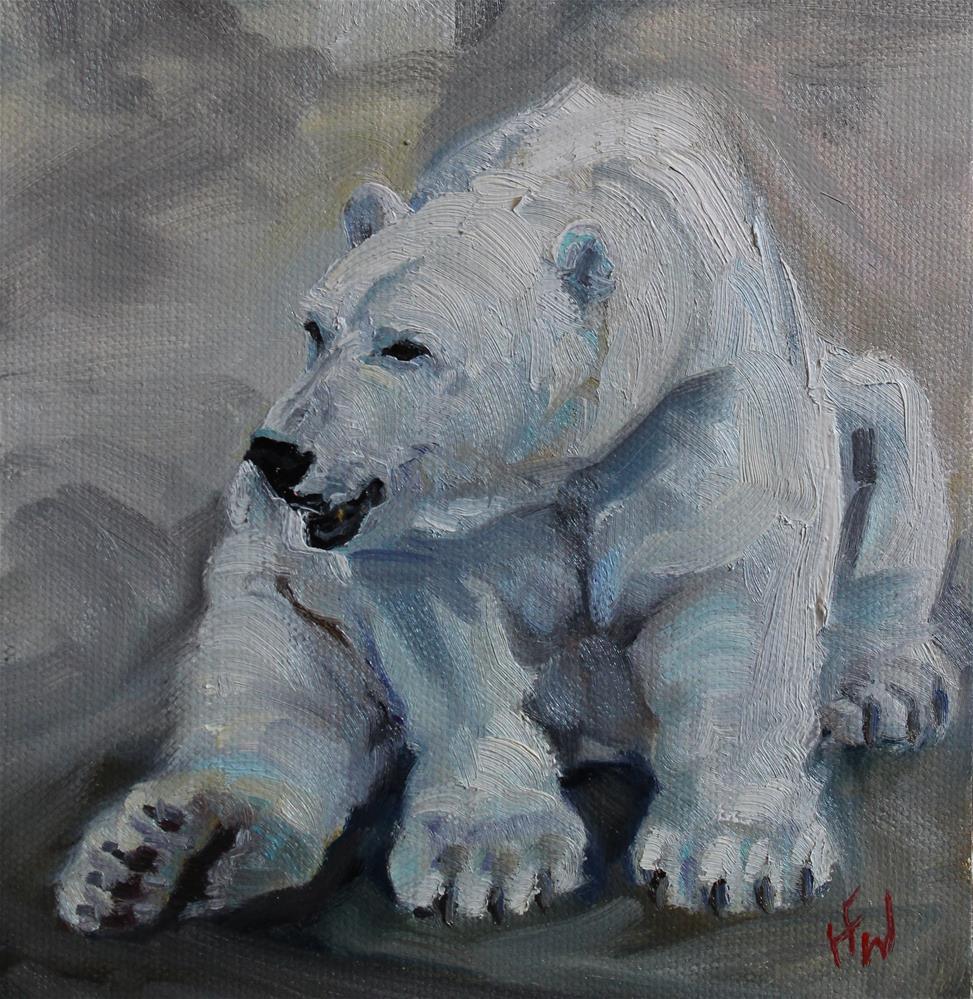 """""""Polar Bear"""" original fine art by H.F. Wallen"""