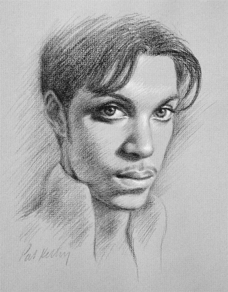"""Portrait of Prince"" original fine art by Pat Kelley"