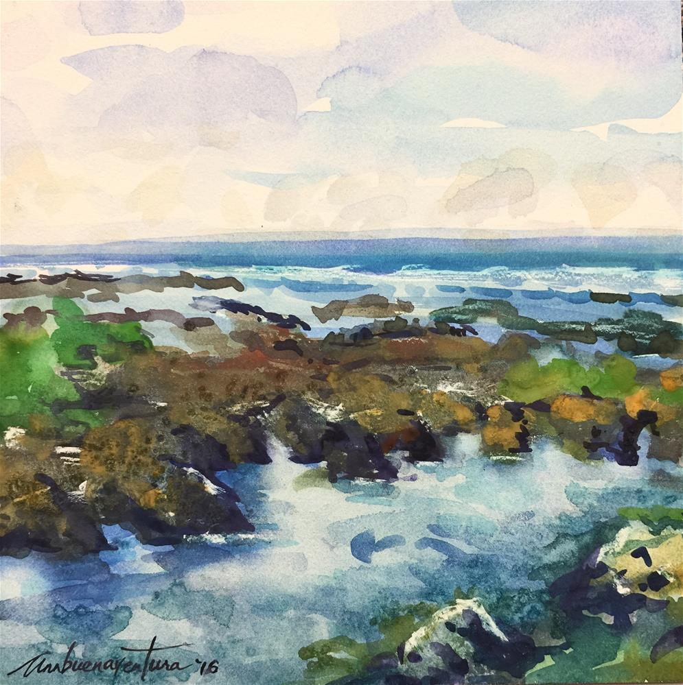 """Beautiful Siargao Reefs, Philippines"" original fine art by Ann Buenaventura"