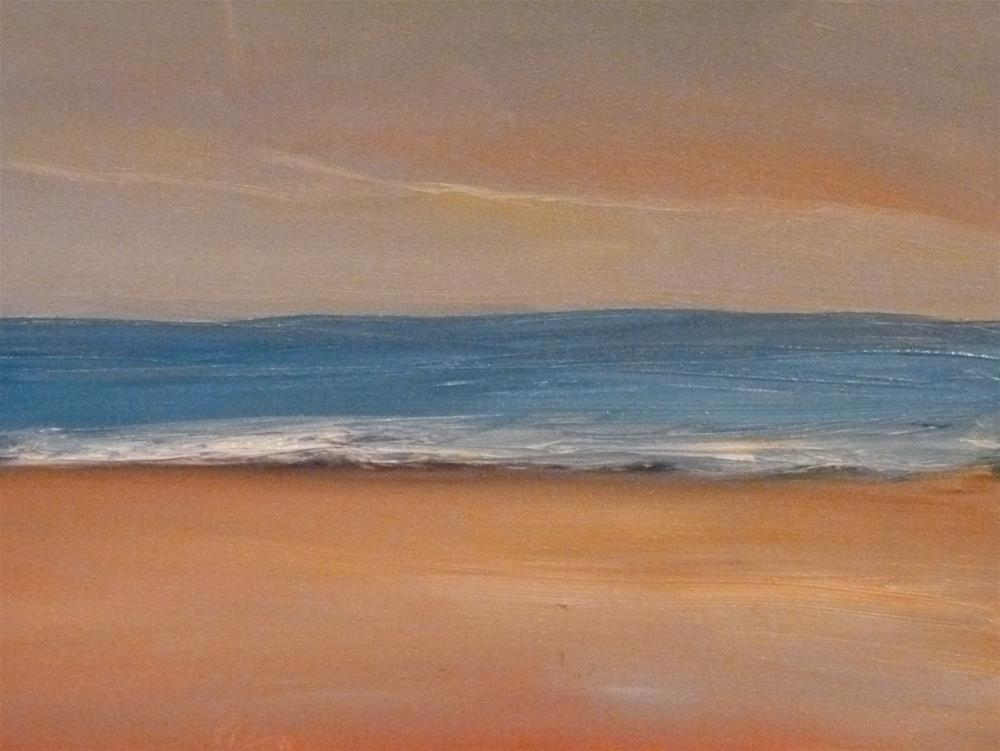 """Sweet Beach Walk"" original fine art by Jo-Ann Sanborn"