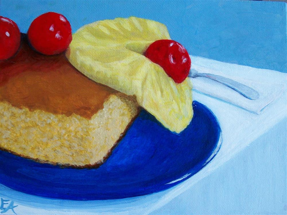 """30 in 30 Challenge: Pineapple Cake"" original fine art by Elizabeth Elgin"
