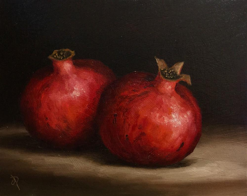 """Pomegranates"" original fine art by Jane Palmer"