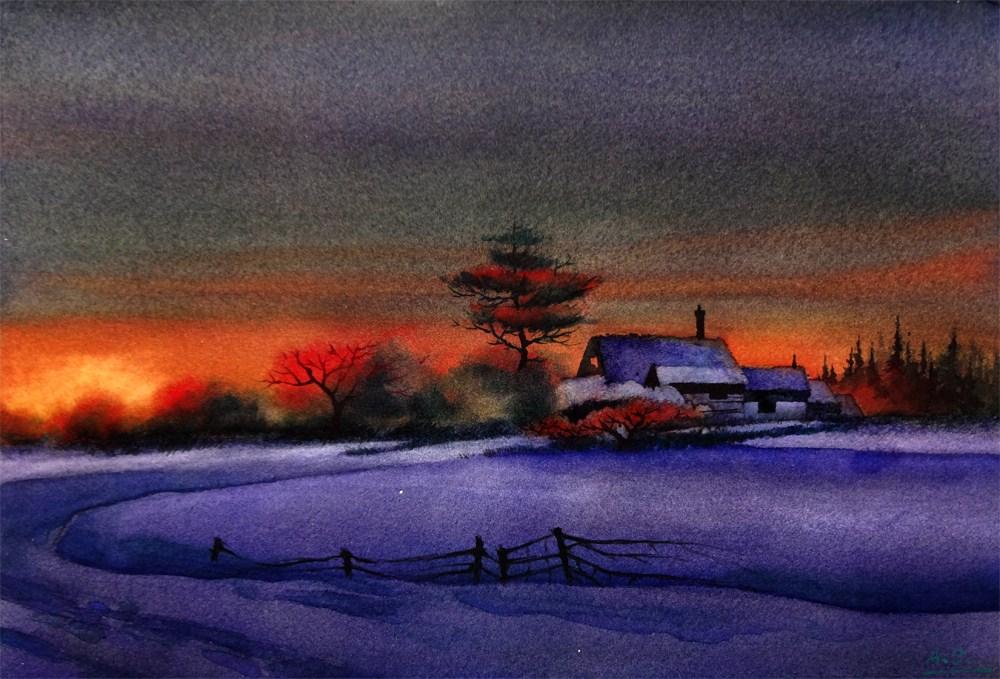 """""""Winter Mirage (Version 3)"""" original fine art by Arena Shawn"""