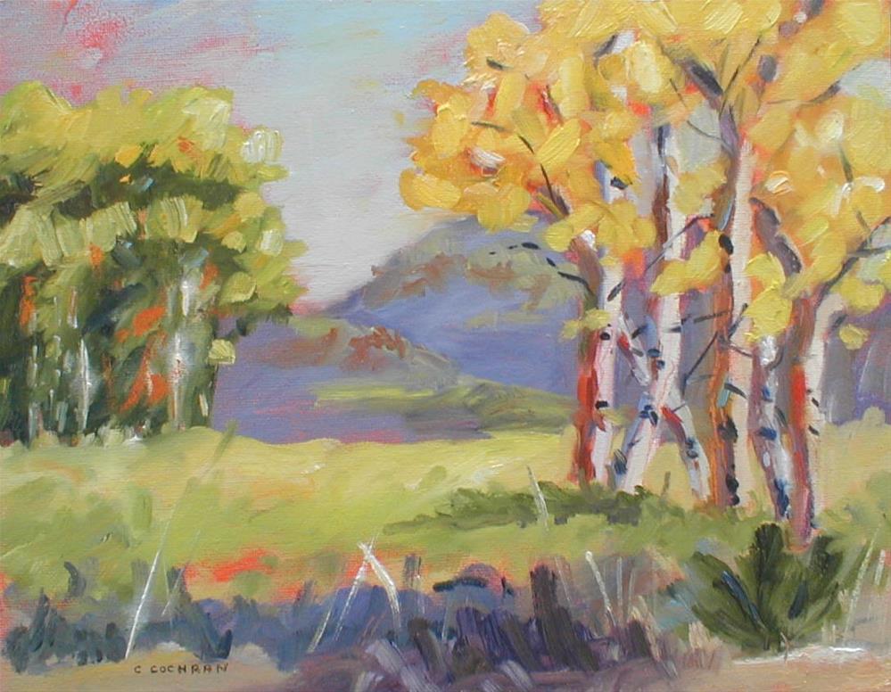 """""""Fall Hiway 140"""" original fine art by Carol Cochran"""