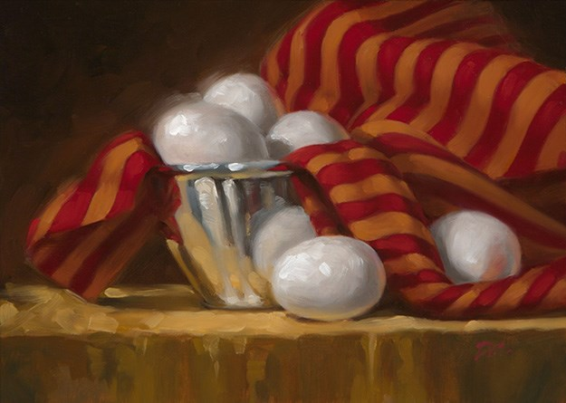 """Eggs and Stripes"" original fine art by David Capalungan"