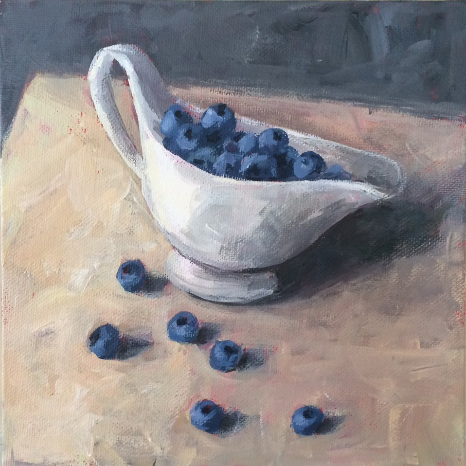 """Blueberry Boat"" original fine art by Shannon Bauer"