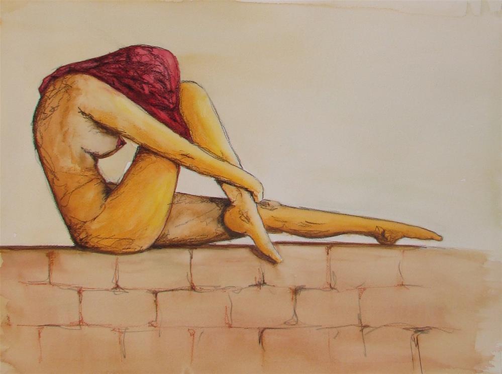 """""""Rouge"""" original fine art by Vito Cagnazzo"""