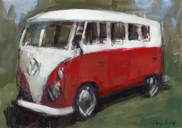 """""""Bus - Sketch"""" original fine art by David Lloyd"""
