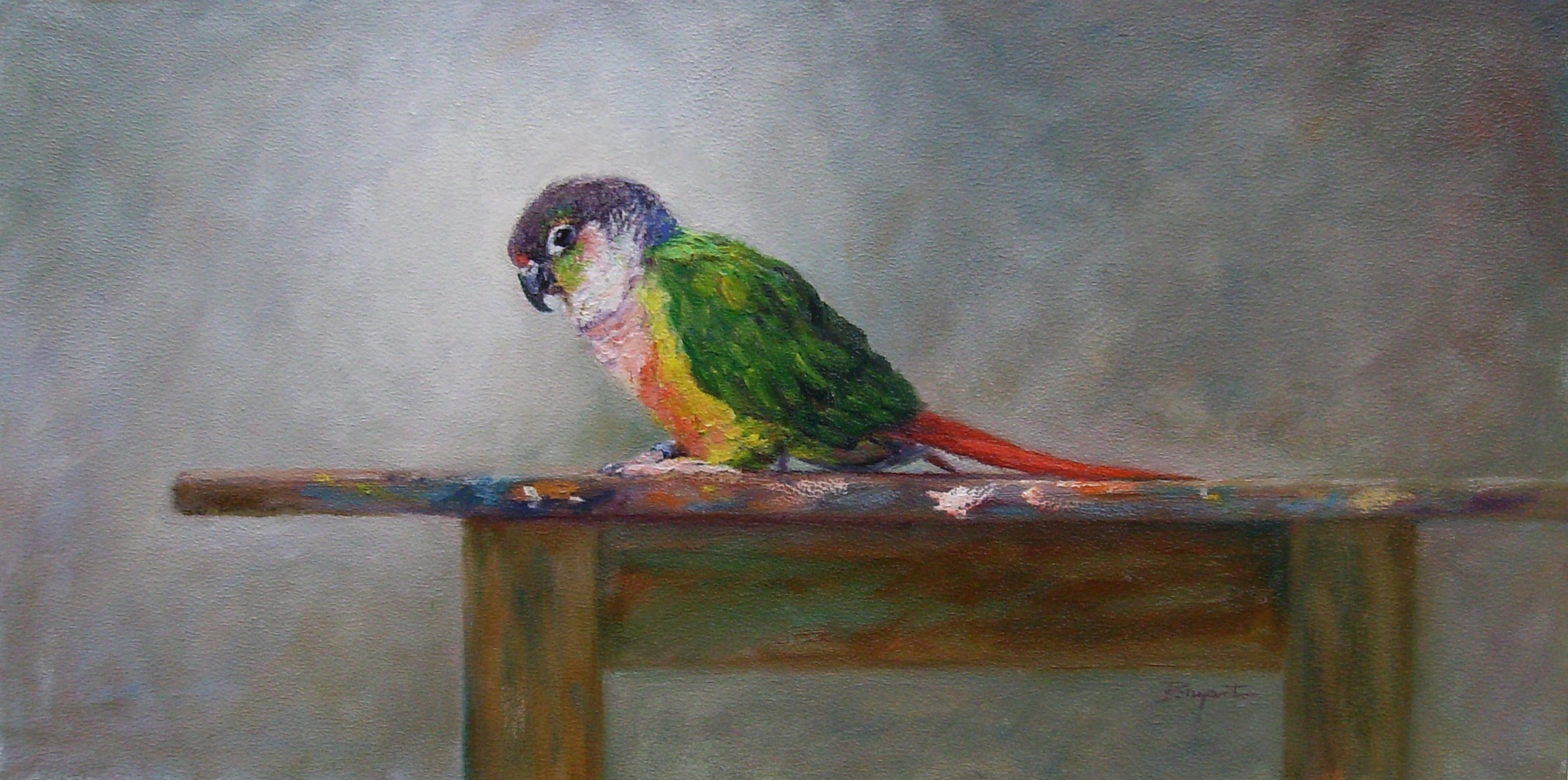 """Walter on the Easel"" original fine art by Debra Bryant"