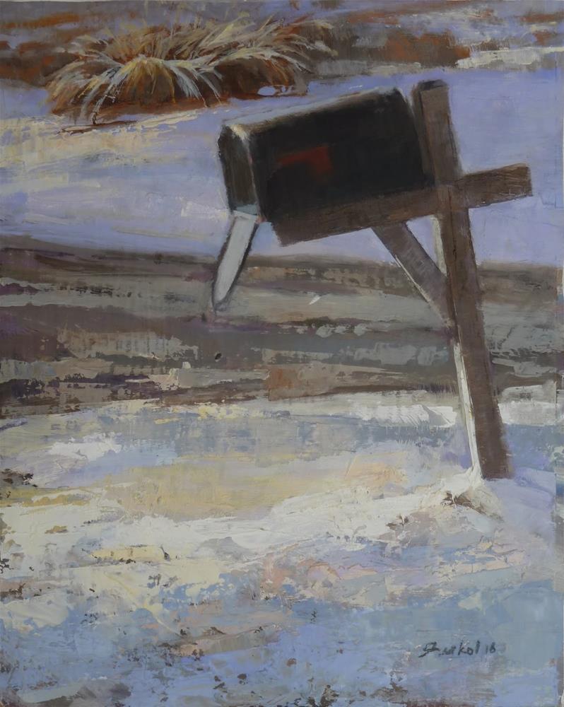 """""""Wet Snow"""" original fine art by Ron Ferkol"""