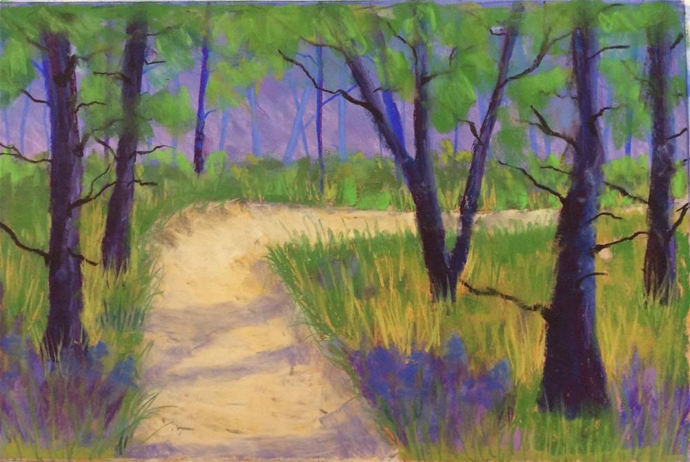 """Forest Path"" original fine art by Sharon Cullen"