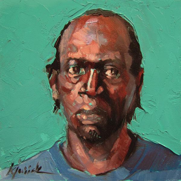 """100 Faces, No. 44"" original fine art by Karin Jurick"