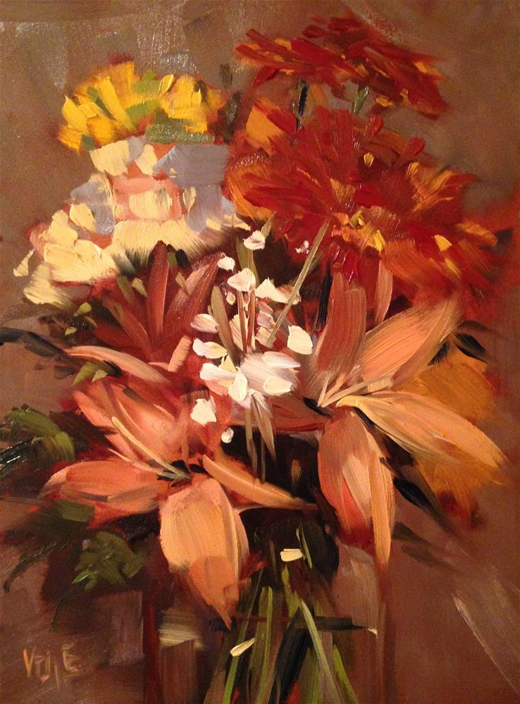 """#195 Autumn Bouquet"" original fine art by Patty Voje"