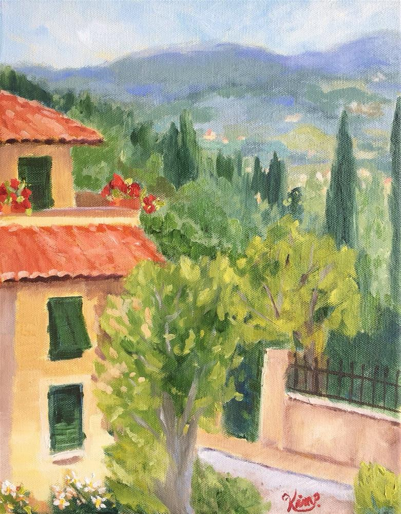 """Morning in Tuscany"" original fine art by Kim Peterson"