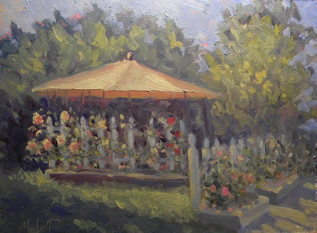 """A Place for Tea"" original fine art by Heidi Malott"
