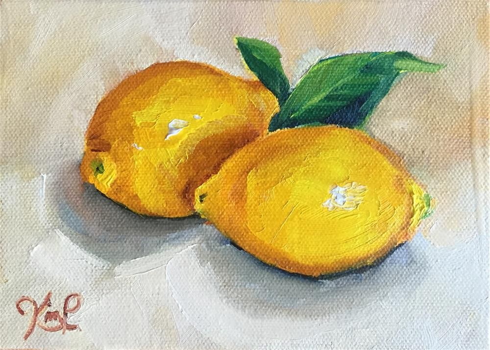 """Lemon Study"" original fine art by Kim Peterson"